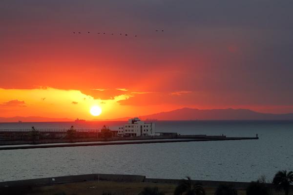 ロッジ舞洲「NEST」から見る夕日