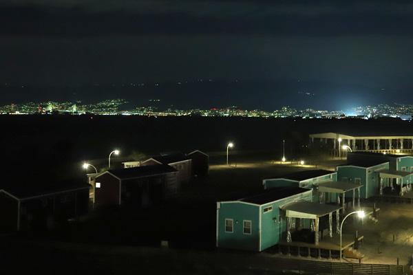 ロッジ舞洲「NEST」から見る夜景