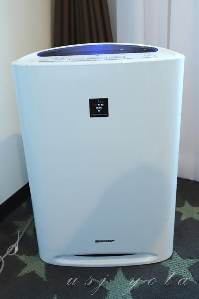 ザ パーク フロント ホテル アット ユニバーサル・スタジオ・ジャパンの加湿機能付き空気清浄機
