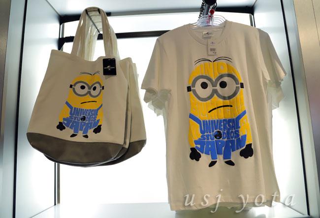 ミニオンのトートバッグとTシャツ