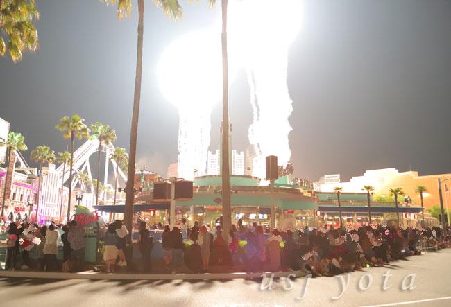 ユニバーサルスペクタクルナイトパレードの花火