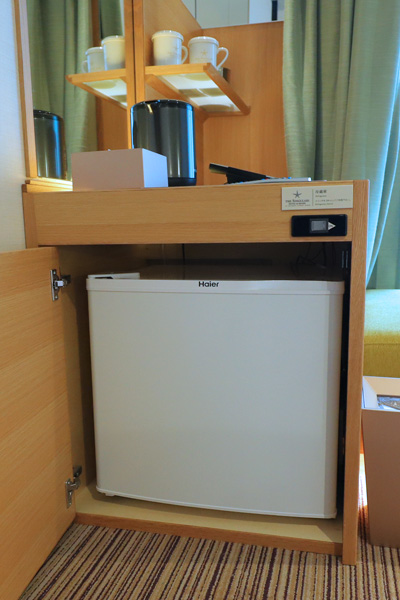 シンギュラリホテル部屋の冷蔵庫