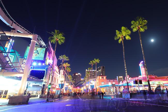 ハリウッドエリアの夜景
