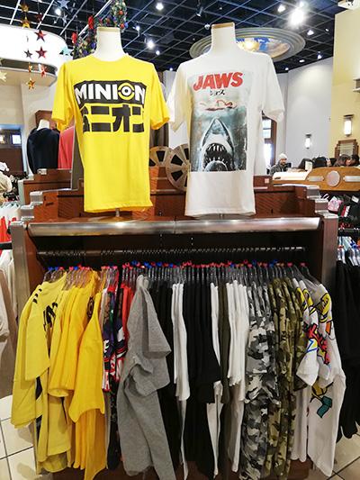 USJで販売されているTシャツ