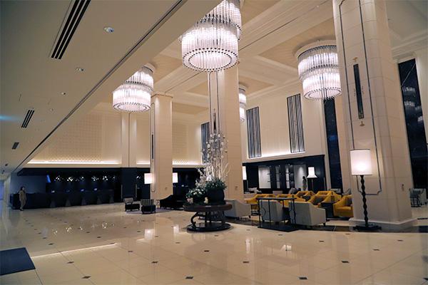 リーベルホテルのロビーとフロント