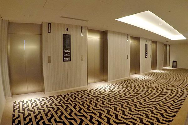リーベルホテルのエレベーターホール