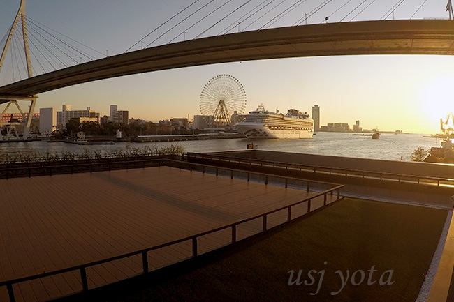 リーベルホテルスパのテラスから見える景色