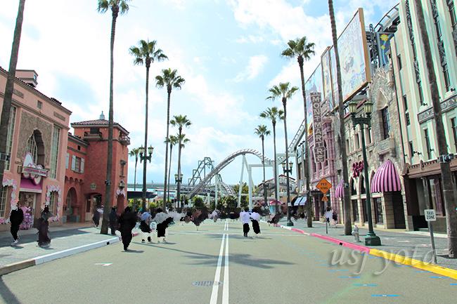 ハリウッドエリアの大通り