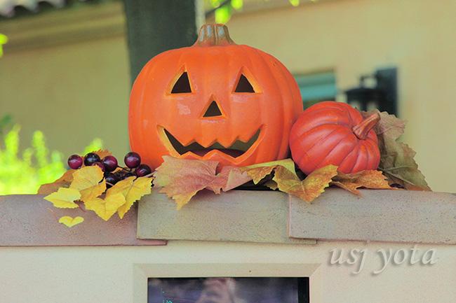 カート販売レジ近くのかぼちゃのオブジェ