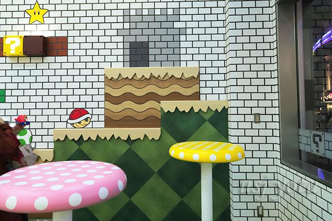 マリオカフェキノコのテーブル