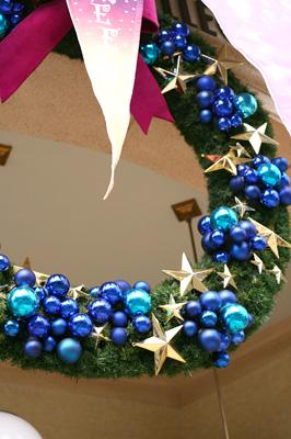 クリスマスの飾りつけ