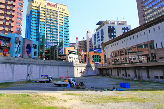 ホテルユニバーサルグランドタワーの建設予定地