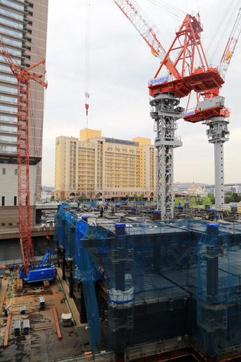 ホテルユニバーサルグランドタワー東急(仮称)の工事状況