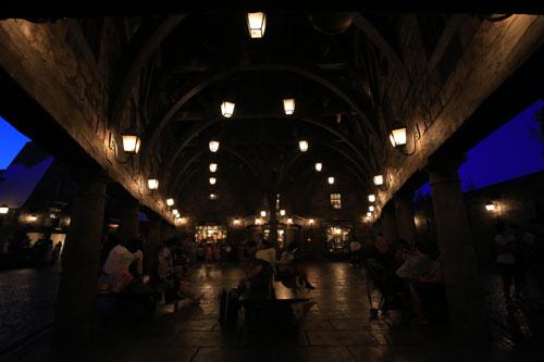 ハリー・ポッターエリアの夜景