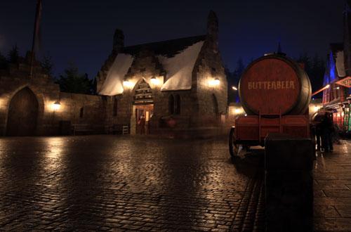 ハリー・ポッターエリアの夜景写真ハリー・ポッターエリアの夜景写真