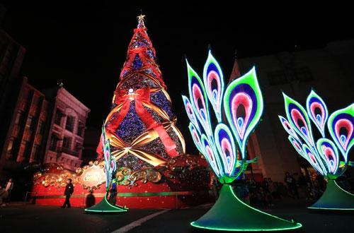 クリスマスツリーとマジカル・スターライト・パレード