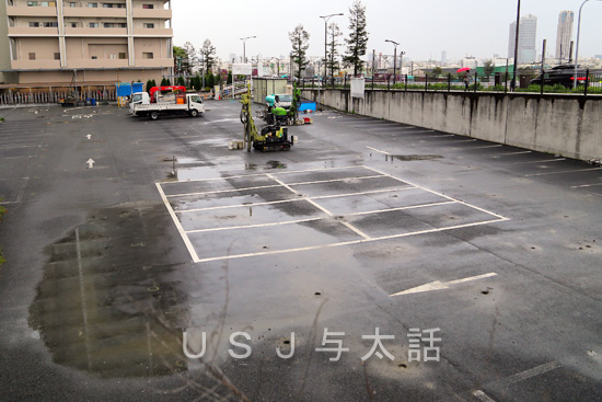 『ユニバーサルシティ駅前駐車場』は工事のため2015年3月20日~5月20日まで閉鎖